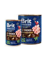 Brit Premium Dog by Nature  konz Chicken & Hearts 800g