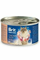 Brit Premium Cat by Nature konz Chicken&Rice 200g