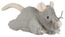 Hračka mačka Myš šedá plyšová robustná 15cm TR 1ks