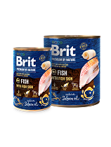 Brit Premium Dog by Nature  konz Fish & Fish Skin 400g