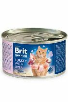 Brit Premium Cat by Nature konz Turkey&Liver 200g