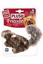 Hračka pes GiGwi Plush Friendz veverica sivá plyš
