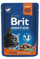 Brit Premium Cat vrecko Salmon for Sterilised 100g