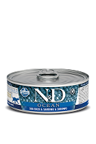 N&D GF CAT OCEAN Adult Sea Bass & Sardine &Shrimps 80g