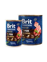 Brit Premium Dog by Nature  konz Pork & Trachea 800g