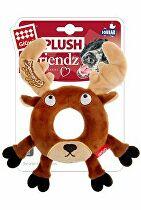 Hračka pes GiGwi Plush Friendz sob s gumovým krúžkom