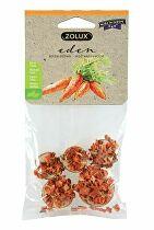 Pochúťka EDEN WOOD SLICE mrkva pre hlodavce 30g Zolux