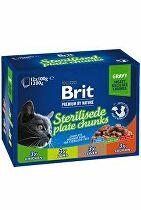 Brit Premium Cat vrecko Sterilised Plate 1200g (12x100g)