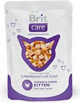 Brit Care Cat vrecko KITTEN Chicken & Cheese Pouch 80g