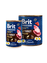 Brit Premium Dog by Nature  konz Turkey & Liver 400g