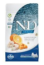 N&D OCEAN DOG GF Adult Mini Codfish&Pumpki&Orang 2,5kg