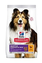 Hill's Can.Dry SP Sensitive Adult Medium Chicken 14kg