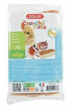 Crunchy Cake jablko / banán pre hlodavce 75g Zolux