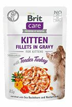 Brit Care Cat Fillets Gravy Kitten Tender Turkey 85g