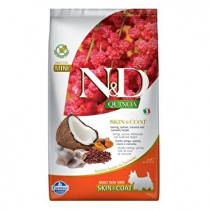 N&D Quinoa DOG Skin & Coat Herring &Coconut Mini 2,5kg