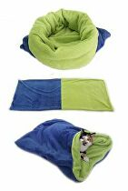 Spací vak 3v1 modrá / zelená XL mačka 22