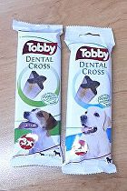 Pochoutka dentální TOBBY DENTAL CROSS S-M 70g 3ks
