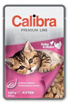Calibra Cat  kapsa Premium Kitten Turkey & Chicken100g