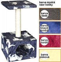 Škrábadlo Carmen tmavě modré 30x30x57