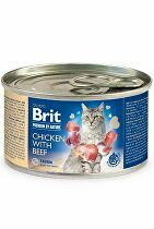 Brit Premium Cat by Nature konz Chicken&Beef 200g
