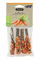 Pochúťka EDEN WOOD LOG mrkva pre hlodavce 20g Zolux