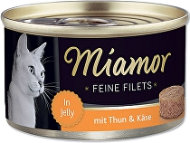 Miamor Cat Filet konzerva tuňák+sýr 100g