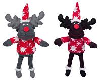 Vánoční Hračka pes Sob šedý,hnědý 42cm TR 1ks