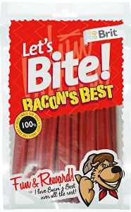 Brit pochoutka Let's Bite Bacon's Best 105g NEW